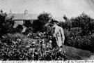 Edward Carpenter in his garden at Millthorpe, Derbyshire