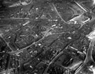 View: s12344 Aerial View - City Centre towards Wicker, including Cathedral, Church Street and High Street, bottom right, Campo Lane, West Bar, Snig Hill, centre, Wicker, River Don and Wicker Arches in background