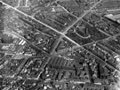 View: s12346 Aerial View - City Centre and St. Mary's including St. Mary's Road to left of St. Mary's Church, Britannia Brewery, Clough Road, right of church, Bramall Lane, front of church, Brunswick Chapel and The Moor in foreground and Vulcan Works behi