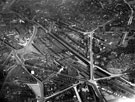 View: s12347 Aerial View- City Centre and Park including Sheaf Street leading to Midland Station, centre, Granville Street behind, Shrewsbury Road leading to South Street Park, Shrewsbury Hospital, extreme right and Tram Car Depot, Leadmill Road, bottom left