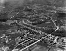Aerial View - Longley Estate showing Sheffield Corporation Moonshine Reservoir, Moonshine Lane (middle right of picture), Shirecliffe Secondary School, Penrith Road/Longley Avenue (extreme left of picture) and Herries Road (through centre of picture)