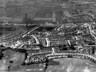 Aerial View - Crowland Road, Hereward Road (bottom of picture), Elm Lane and Deerlands Avenue (across centre)