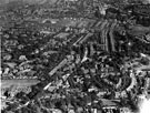 Aerial View - Broomhill towards Sharrow including (left-right) King Edward VII School, Newbould Lane leading to Clarkegrove Rd, Sheffield Girls High School and Rutland Park, foreground, Clarkehouse Road, centre, Sharrow and General Cemetery in distan
