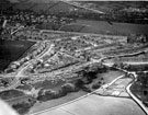 Aerial View - Laverdene Estate, Bradway / Totley including (left-right) construction of Green Oak Road, Aldam Road, Mickley Lane, Laverdene Avenue and Glover Road, foreground, Baslow Road, rear