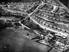 Aerial View - Laverdene Estate, Bradway / Totley including Queen Victoria Road, Laverdene Avenue and Glover Road, foreground, Mickley Lane, Green Oak Road, Aldam Road, Laverdene Drive, Laverdene Way, Laverdene Road and Baslow Road, rear