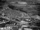 Aerial View - Manor Estate roads including Prince of Wales Road, City Road and Queen Mary Road showing Prince Edward Council School and Manor Picture House (bottom of picture)