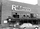 Rex Cinema, junction of Mansfield Road and Hollybank Road, Intake, prior to demolition. Opened 24 July 1939. Designed by Hadfield and Cawkwell, seated 1350. Closed December 1982 and demolished October 1983