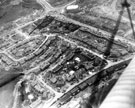 Aerial view of Parson Cross Estate during construction. Ritz Cinema, top, centre at junction of Southey Green Road and Wordsworth Avenue. Palgrave Road, Meynell Road and Palgrave Crescent in foreground