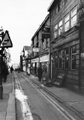 Nos. 25; Museum P.H.; 23, La Capannina Restaurant; 21, Sheffield Raincoat Stores, Orchard Street looking towards the junction with Orchard Place (right) and Church Street