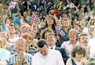 Spectators at the World Student Games opening ceremony at the Don Valley Stadium