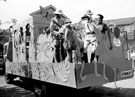 View: t02159 Staff from Sheffield City Museum, Weston Park, on a decorated float for the Lord Mayors Parade