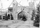 Blonk Street decorated for Queen Victoria's visit to Sheffield