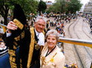 View: u00045 Lord and Lady Mayoress, Frank and Freda White, Lord Mayor's Parade passing Church Street
