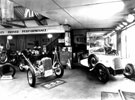 Interior of Walter Wragg Ltd., Motor Car, Motor Cycle Agent, Cycle Agent and Manufacturer