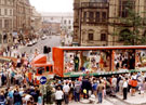 View: u02377 Sheffield Libraries Float, Lord Mayors Parade, Town Hall Square, 1993