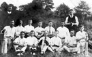 Unidentified Cricket Team including Charles Lee back row far right