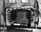 Files in the hardening furnace at English Steel Corporation's Holme Works