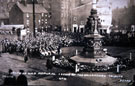 Laying of the Hallamshire Tribute, Barker's Pool War Memorial