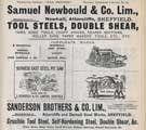 Samuel Newbould and Co. Ltd., steel; saw; tools and knife manufacturer etc., Newhall Road