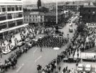 Football World Cup 1966: Guards band marching in Barkers Pool