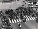 Football World Cup 1966: Guards band marching in Town Hall Square